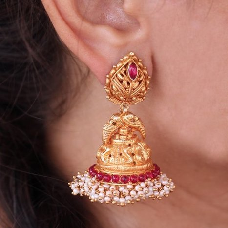 Temple Jewellery Earrings Collection by Madhurya | Furniture, Handicraft | Scoop.it