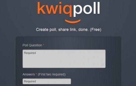 Créer un sondage en 2 minutes avec Kwiqpoll | Time to Learn | Scoop.it