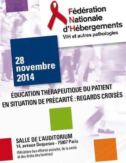 ÉDUCATION THÉRAPEUTIQUE du patient en situation de précarité, le 28 novembre 2014 – FNH | Santé blog | Education thérapeutique du patient | Scoop.it