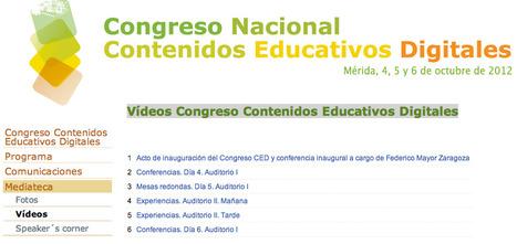 Vídeos Congreso Contenidos Educativos Digitales | EducationCommunication | Scoop.it