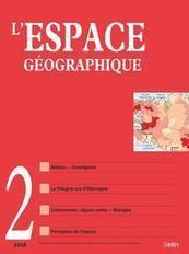 """2e partie du dossier """"Géographie et médias"""", L. Beauguitte, C. Grasland & M. Severo (coord.), Revue L'Espace géographique 2016/2   CIST - nos actualités   Scoop.it"""