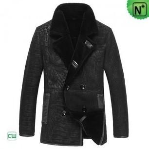 Mens Shearling Leather Coats CW877055 | Men's | Scoop.it