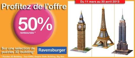PROMO : -50% sur les puzzles Monuments 3D chez jeu-puzzles.com | Jeu puzzles | Scoop.it