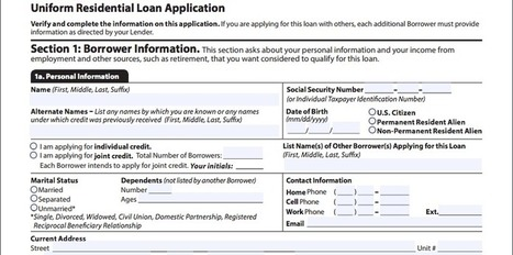 Fannie, Freddie revise mortgage app form for first time in 20 years | Real Estate Plus+ Daily News | Scoop.it