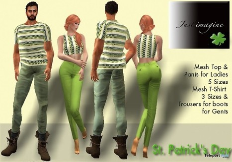 St. Patrick's Day Outfits For Men and Women Group Gifts by Just Imagine and Wolves Land | Teleport Hub - Second Life Freebies | Second Life Freebies | Scoop.it