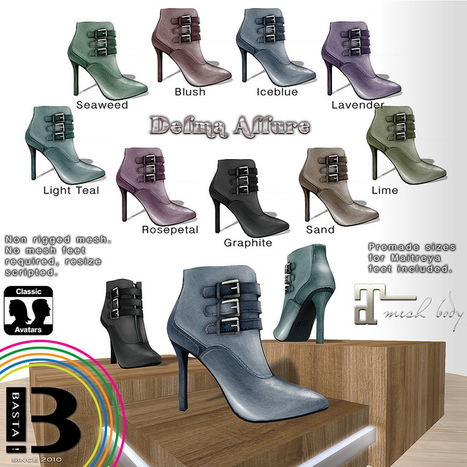 Delma Allure Ankle Boots Gacha Group Gift by BASTA! Fashion | Teleport Hub - Second Life Freebies | Second Life Freebies | Scoop.it