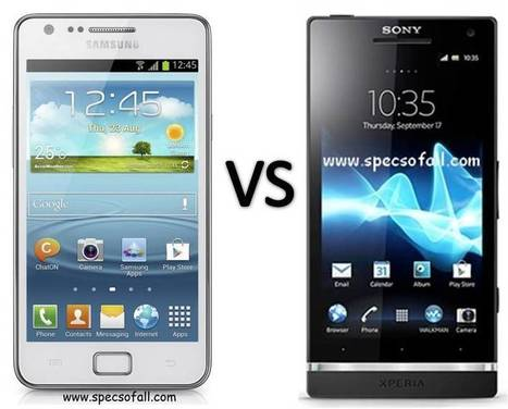 Samsung Galaxy S II Plus vs Sony Xperia SL Comparison | Specifications of Smartphones | Scoop.it