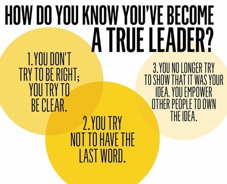 How do you know you've become a true leader? | #BetterLeadership | Scoop.it