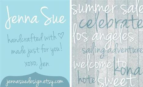 Free Font : Jenna Sue font by Jenna Sue Design Co. - FontSpace | Artdictive Habits : Sustainable Lifestyle | Scoop.it