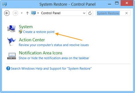 How to create System Restore Point in Windows 8 | 7 | INFORMATIQUE 2014 | Scoop.it