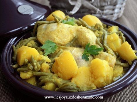 Tajine de poulet aux pommes de terre et haricots verts - ..Les joyaux ... | cuisine_médias | Scoop.it