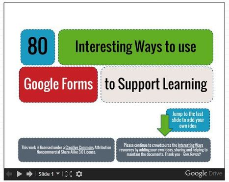80 Interesting Ways to Use Google Forms to Support Learning | The Curious Creative | E-Learning | Scoop.it