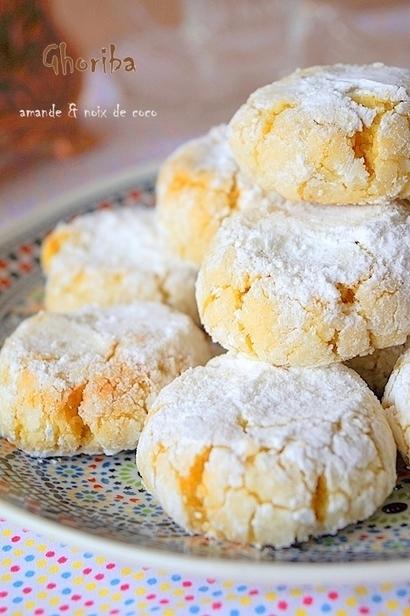 Ghriba aux amandes et noix de coco | Gâteaux algériens modernes & traditionnels | Scoop.it