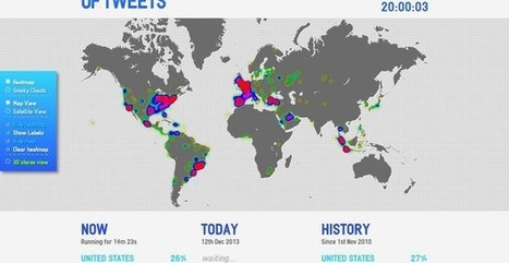 A World of Tweets, flujo geolocalizado y a tiempo real de los tweets | Tecnología e información | Scoop.it