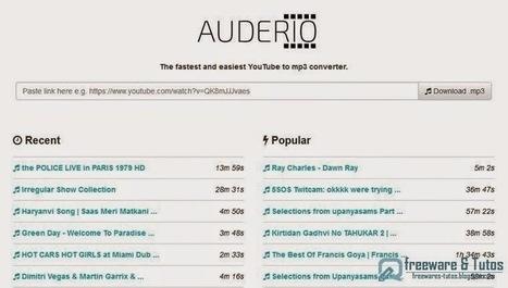Auderio : un nouveau service en ligne pour convertir les vidéos de Youtube en MP3 | Au fil du Web | Scoop.it