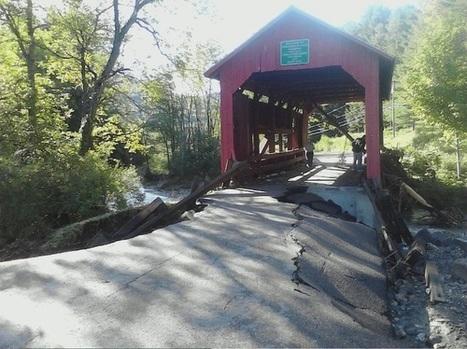 Historic covered bridge in Northfield Falls, #VT hangs tight. | #vtirene | Scoop.it