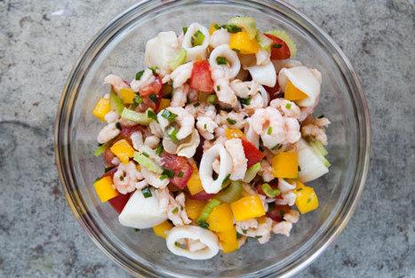 Frutti di Mare Seafood Salad | À Catanada na Cozinha Magazine | Scoop.it