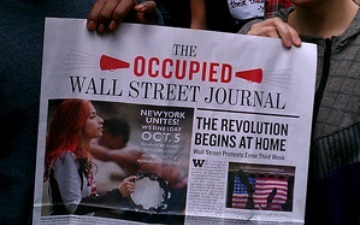 "Occupy Wall Street Newspaper Raises $54,000 on Kickstarter | ""#Google+, +1, Facebook, Twitter, Scoop, Foursquare, Empire Avenue, Klout and more"" 