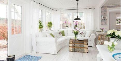 Romantic cottage interior with simple colors - Home2s.com | Interior Designs | Scoop.it