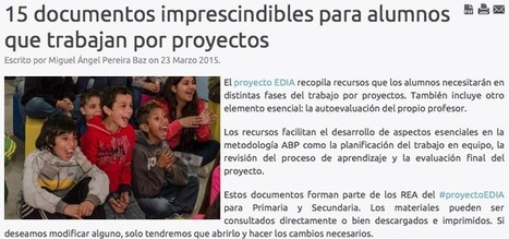 15 documentos imprescindibles para trabajar por proyectos | FOTOTECA INFANTIL | Scoop.it