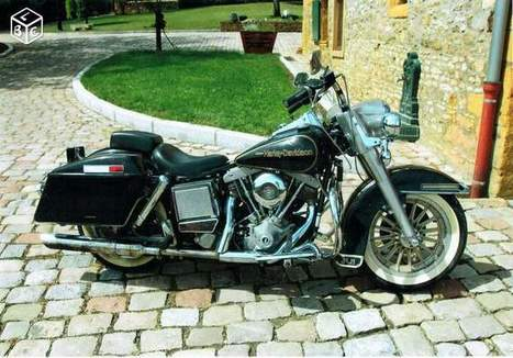 Harley-Davidson Shovelhead FLH 75ème Anniversaire Motos Rhône - leboncoin.fr | Kustom Store Motorcycles | Scoop.it