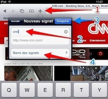 iPad : comment utiliser la barre des signets de Safari   Outils et  innovations pour mieux trouver, gérer et diffuser l'information   Scoop.it