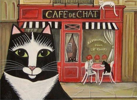 LE CAFE' DES SCAHTS.  Appassionati di gatti, questo è il posto giusto per voi: caffè e pasticcini in compagnia dei mici. | ON THE ROAD - CULINARY ADVENTURES | Scoop.it