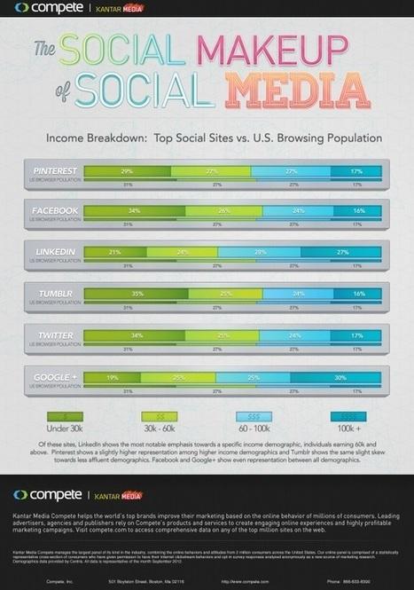 [infographie] Réseaux sociaux : les plus riches sont sur Google+ | Social Media Curation par Mon Habitat Web | Scoop.it