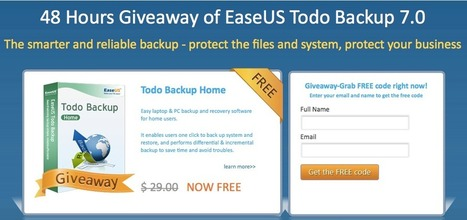 [Giveaway] EaseUS Todo Backup 7.0 | Free license for you | Free giveaway for you | Scoop.it