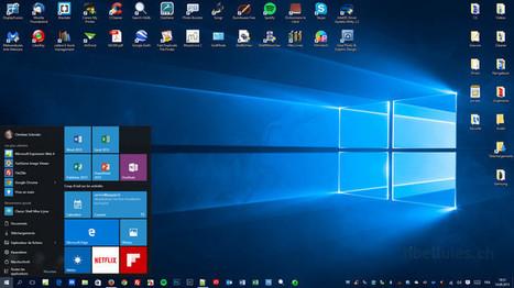 Rendez la barre des tâches de Windows 10 totalement transparente   Chroniques libelluliennes   Scoop.it