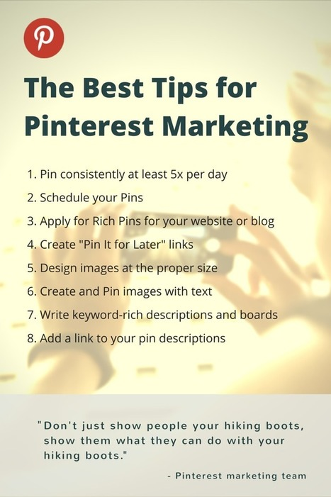 Pinterest Marketing Tips: What We Tried & What Worked | Social Media Journal | Scoop.it