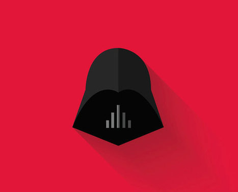 The characters of Star Wars icons Flat Design | DesignFeed | Scoop.it