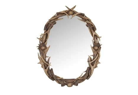Antler Mirror, Solid Wood and Cowhide Materials   Timothy Oulton   3D Product Design   Scoop.it