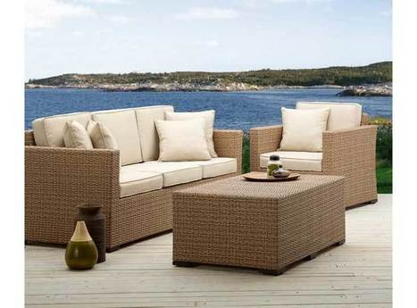 White Wicker Patio Furniture for Outdoor Dining | Exist Decor | home | Scoop.it