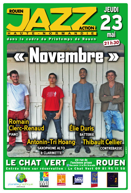 "♪ ce soir au Chat Vert ""Novembre"" 