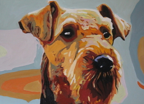 Painting | Airedale Terriers | Scoop.it