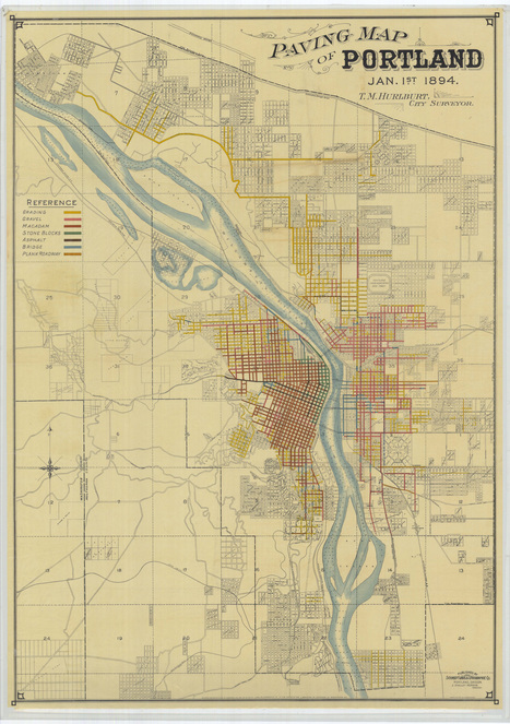 paving-map-of-portland-january-1-1894 | PDX water maps and messes | Scoop.it