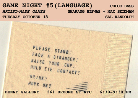 Games By Artist GAME NIGHT #5 will be held on October 18th, 2016 at the Denny Gallery, | Brooklyn By Design | Scoop.it