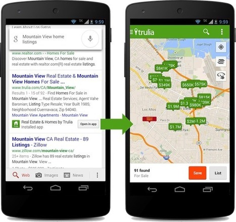 Google commence à indexer le contenu des applications | Communication digitale | Scoop.it