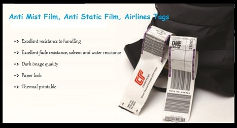 Anti Mist Film, Anti Static Film, Airlines Tags | Bopp films | Scoop.it