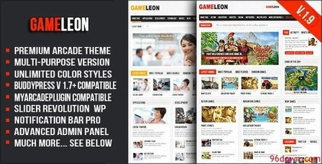 Gameleon v1.9 WordPress Arcade Theme - Download Free Nulled Scripts | Wordpress | Scoop.it