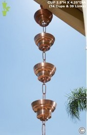 Large Cup Style Rain Chains - RainChainsWorld.com | All About Rain Chains | Scoop.it