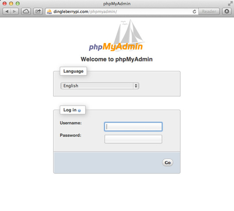 Tutorial – Install PhpMyAdmin on your Raspberry Pi | Dingleberry Pi | Arduino, Netduino, Rasperry Pi! | Scoop.it