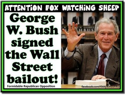 gw-bush-wall-st-bailout.jpg (500x385 pixels) | Secular Curated News & Views | Scoop.it