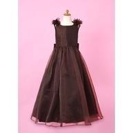 [US$ 102.99] A-Line/Princess V-neck Floor-Length Organza Charmeuse Flower Girl Dress With Flower(s) (010002147) | wedding | Scoop.it