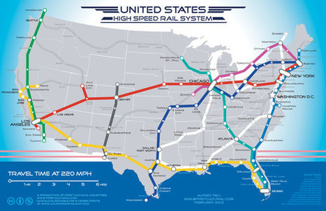 A Beautiful Vision Of An American High-Speed Rail Map | Sustain Our Earth | Scoop.it
