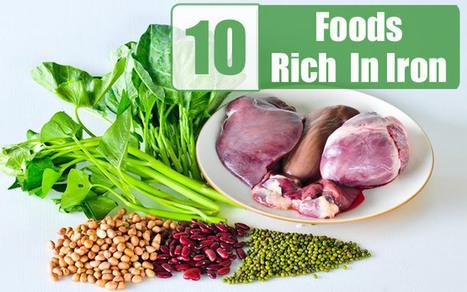 Top 10 Foods Rich in Iron - Health Beckon   Health Beckon   Scoop.it