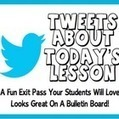 Tweets About Today's Lesson: A Fun Exit Pass To Check Student Understanding | Use of Social Media in High School Classrooms | Scoop.it