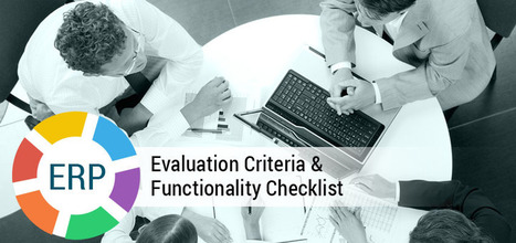 ERP Evaluation Criteria and Functionality Checklist to Select the Best ERP Solution   CrispyCodes   Scoop.it