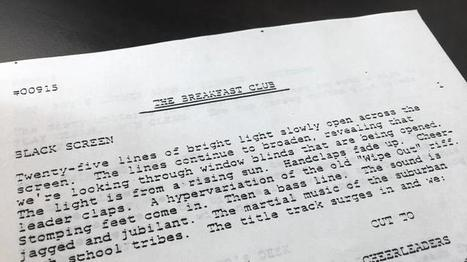Original 'Breakfast Club' screenplay found in District 207 cabinet during move | Winning The Internet | Scoop.it